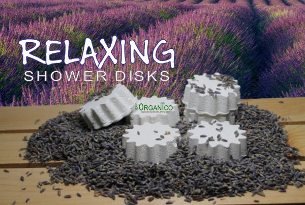 Relaxing Shower Disks - Simply Organico Bath Bombs, Handmade Soaps, Sugar Scrubs, Skin Care