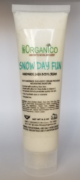 Snow Day Fun Body Cream - Bath Bombs, Handmade Soaps, Sugar Scrubs, Skin Care, Bath Bomb Creamers -  Simply Organico