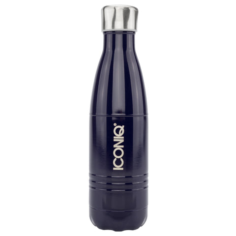ICONIQ 17oz Midnight Blue Water Bottle - Stainless Steel Vacuum Insulated