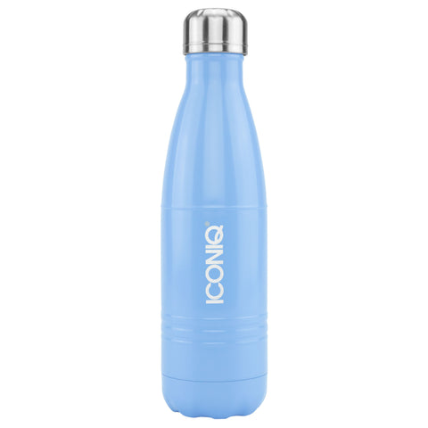 ICONIQ 17oz Baby Blue Water Bottle - Stainless Steel Vacuum Insulated