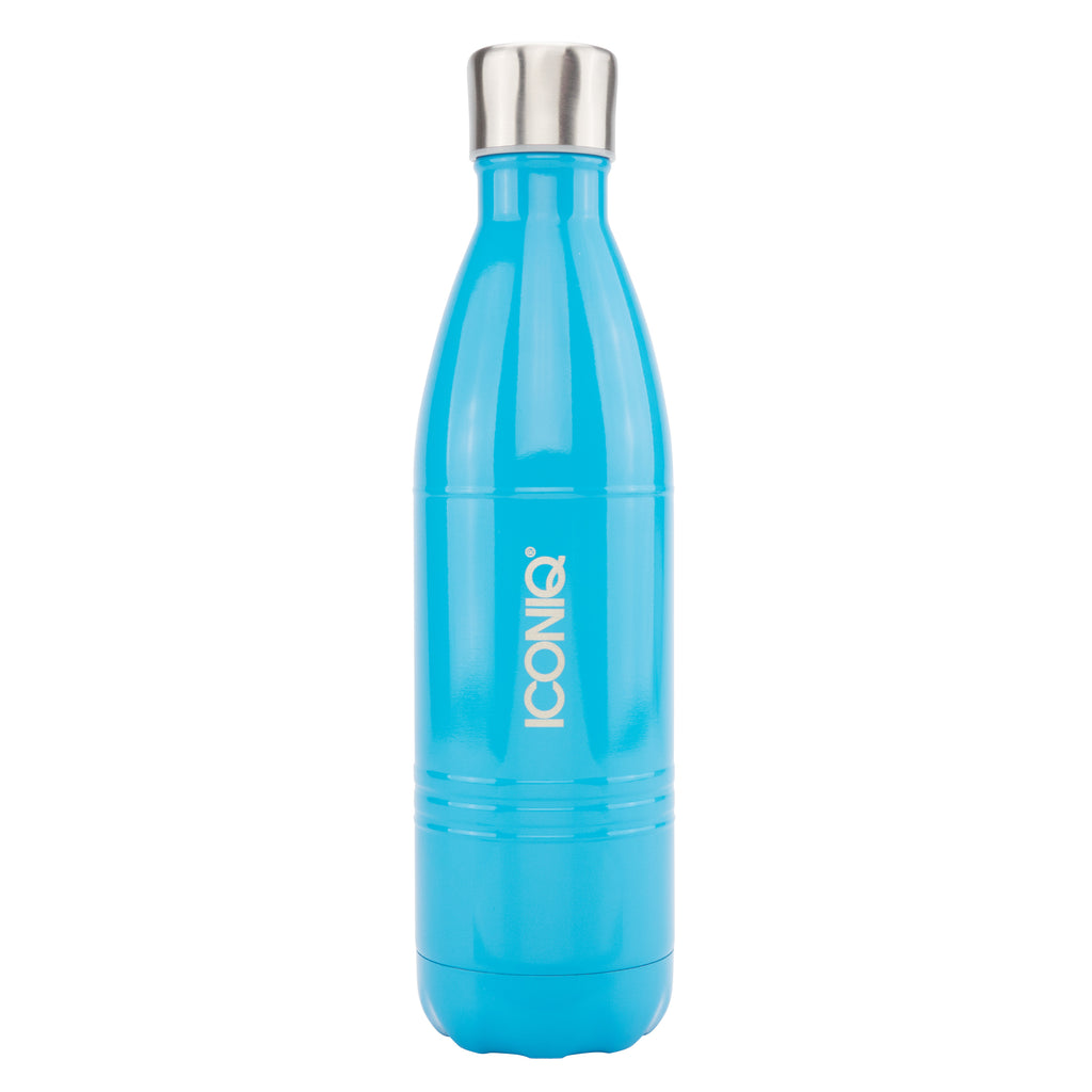 ICONIQ 25OZ GLOSS BLUE WATER BOTTLE - STAINLESS STEEL VACUUM INSULATED