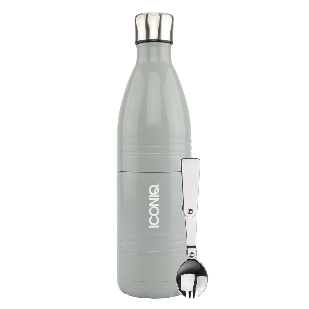 Qore Bottle Insulated Food Container - Slate Gray