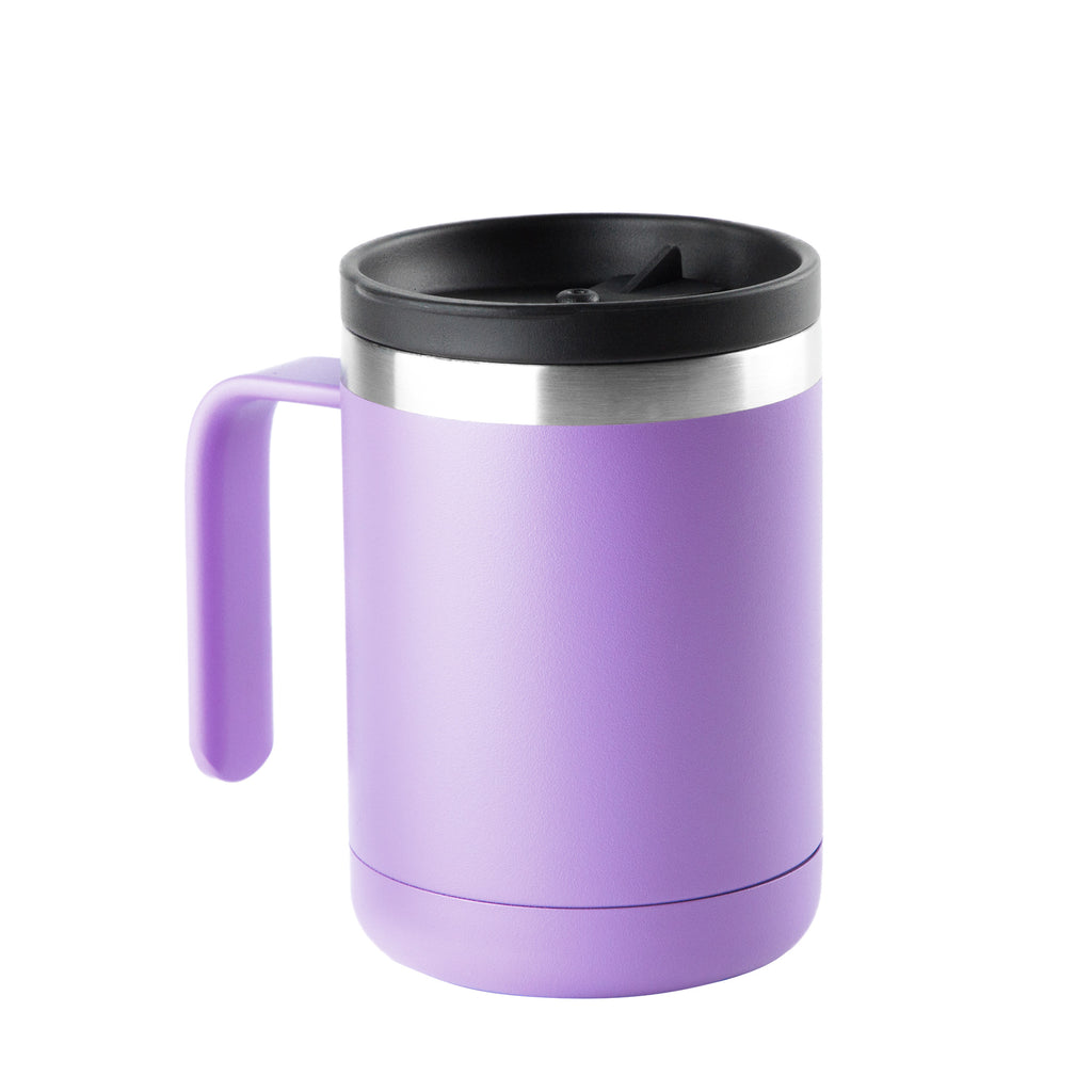 12oz Cafe Mug with Lid - Violet