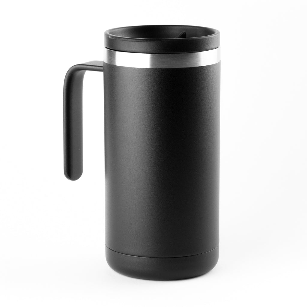 20oz Cafe Mug with Lid - Black