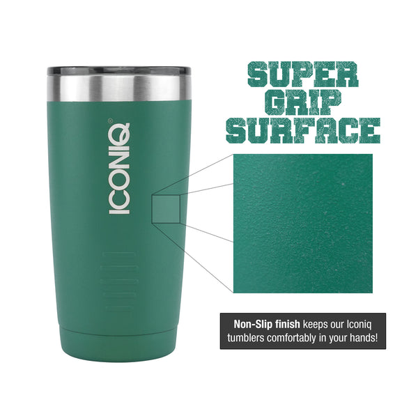 ICONIQ 20oz & 30oz Green Tumbler dimensions