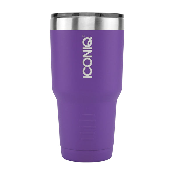 ICONIQ 30oz Purple Tumbler - Stainless Steel Vacuum Insulated - Retractable Lid