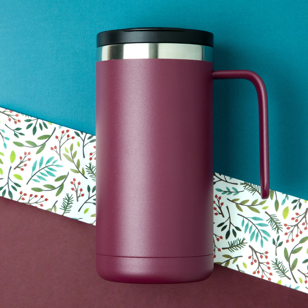 20oz Cafe Mug with Lid - Wine