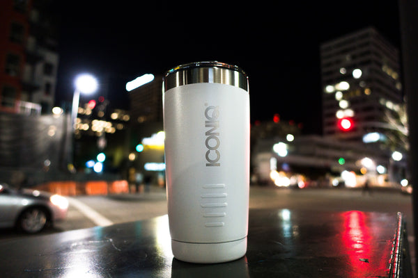 ICONIQ 20oz White Tumbler - Stainless Steel Vacuum Insulated - Retractable Lid