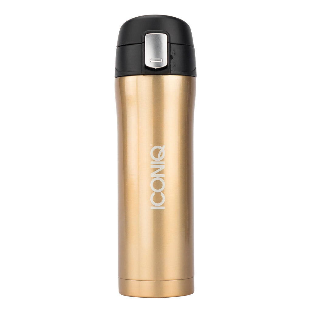 16oz Travel Mug with Push Button Lid -Champagne Gold