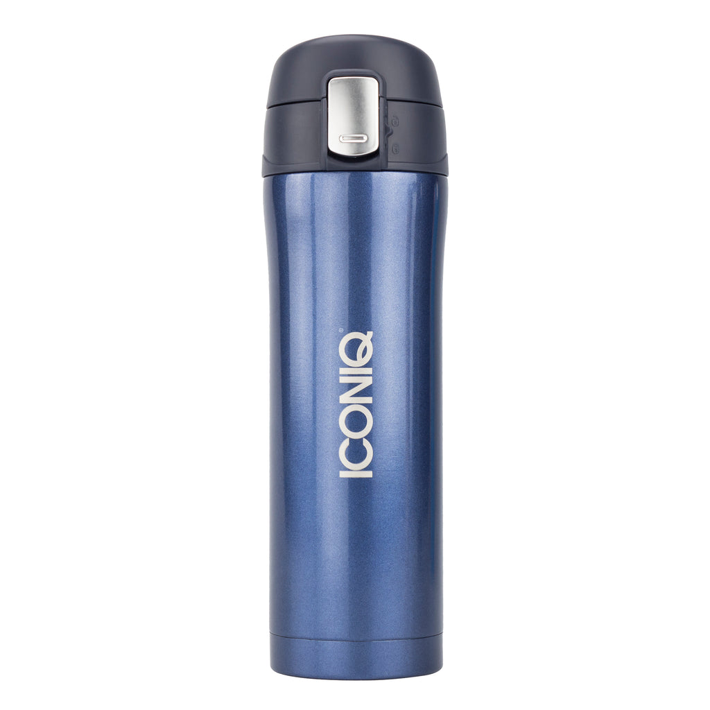 16oz Travel Mug with Push Button Lid - Navy Blue