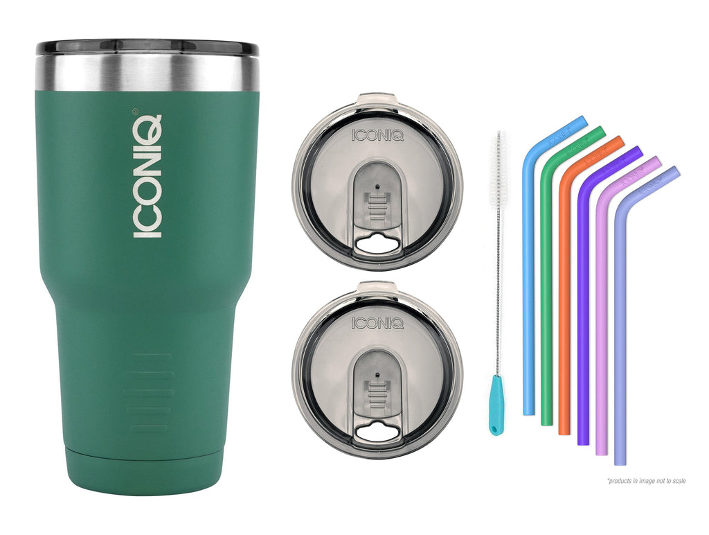 30oz Stainless Steel Tumbler - Green