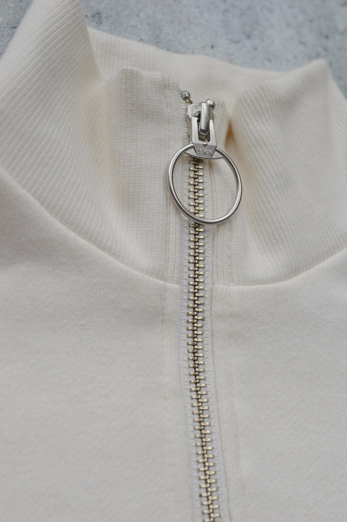 BEAUFORT cream zip-up sweatshirt