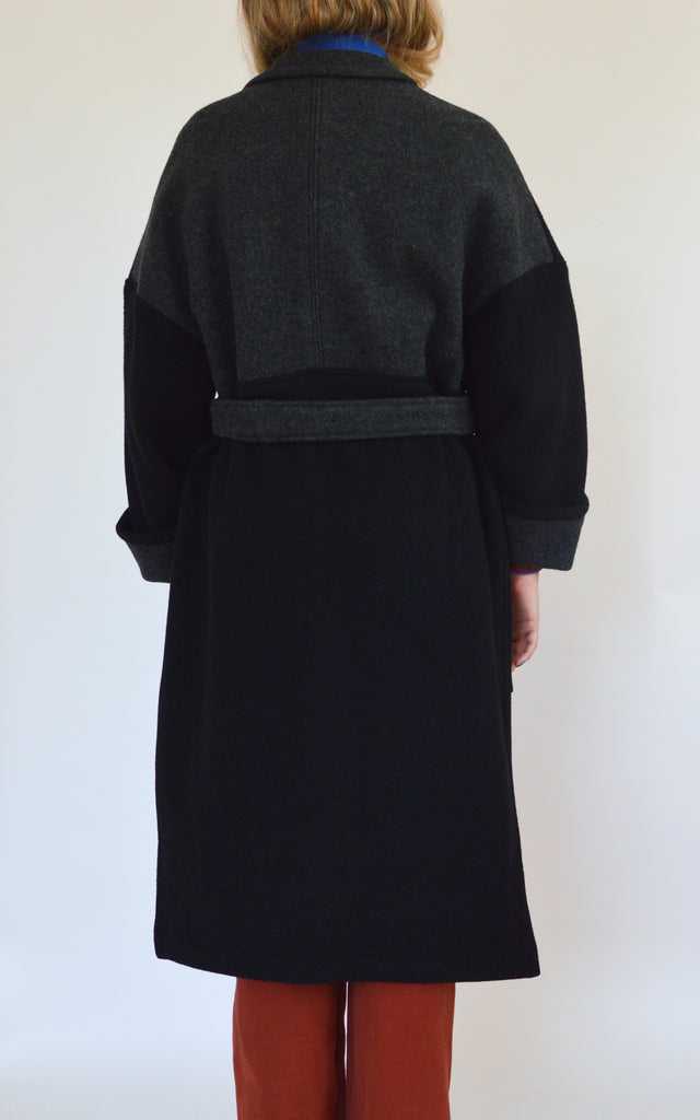 TOUSIGNANT black colorblock trench