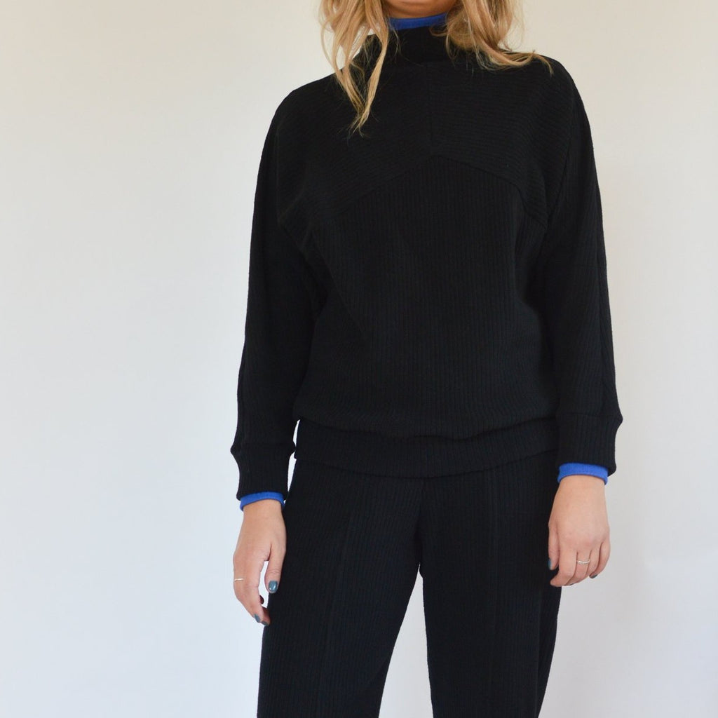 MARCUS black mock neck sweater