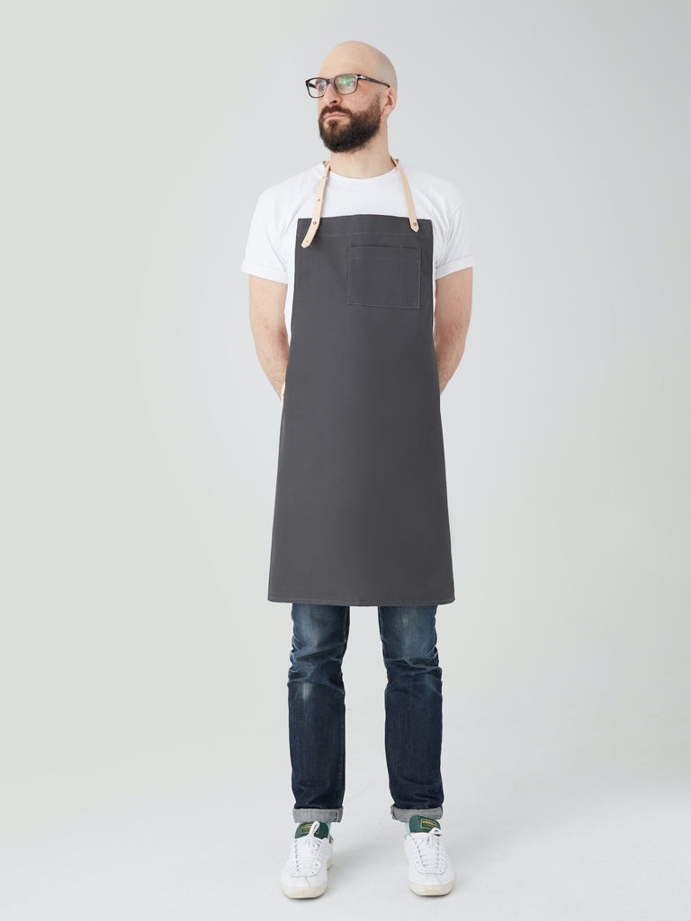 APRON grey cotton | Dahls""