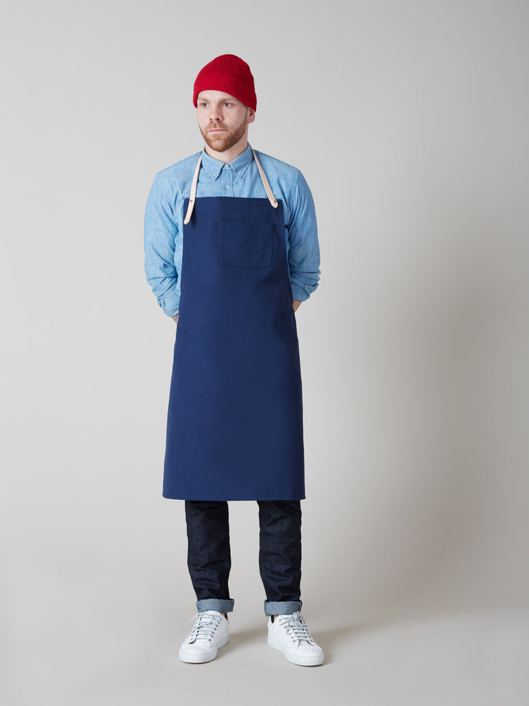 APRON navy cotton | Dahls""