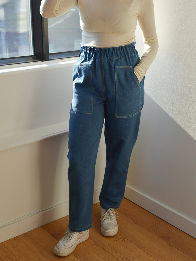 GUILLAUME pale blue denim pant