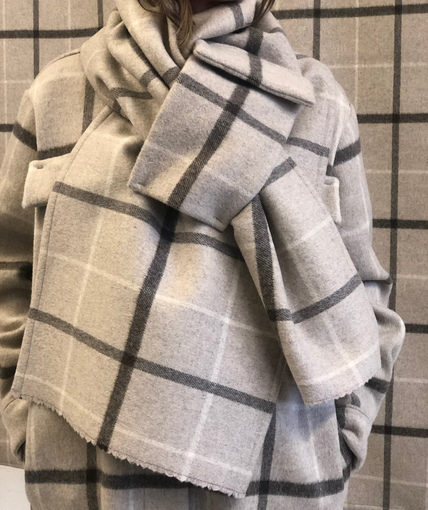 YONI plaid scarf
