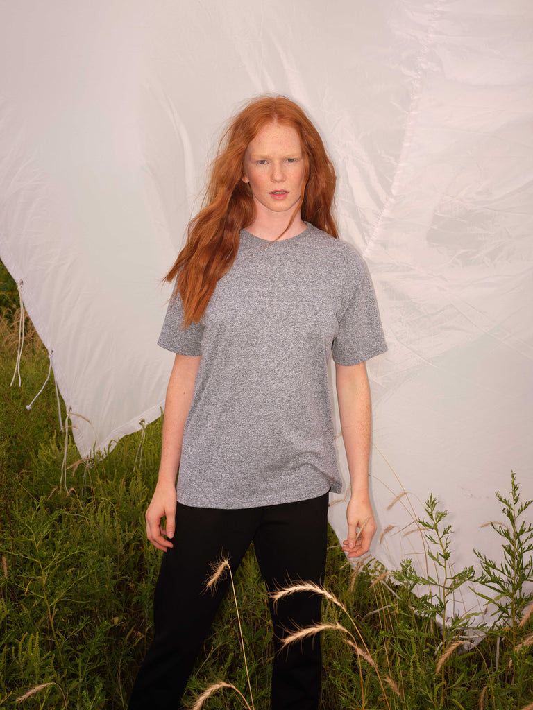 Basic Tee | ALMA | Heather grey | Odeyalo