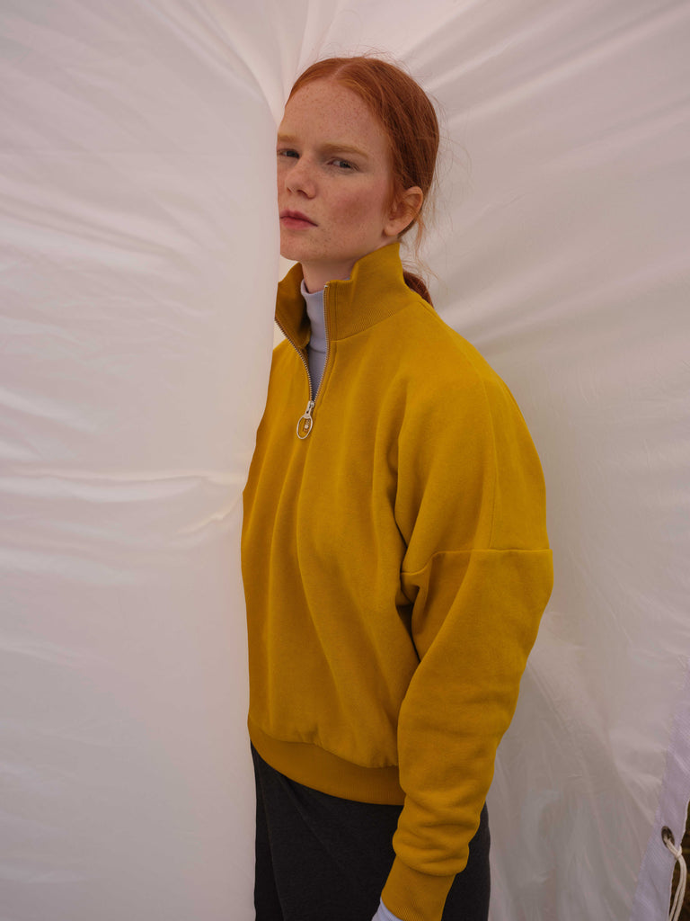 Zip-Up Sweatshirt | BEAUFORT | Chartreuse | Odeyalo