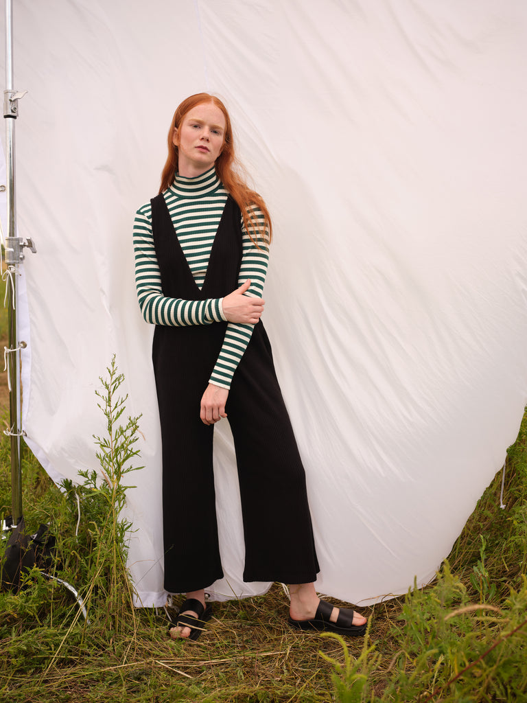 Turtleneck | ADAMO | Green stripes | Odeyalo
