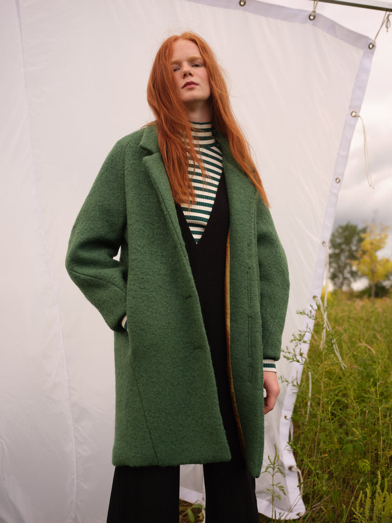 Wool coat | ELENA | Green | Odeyalo