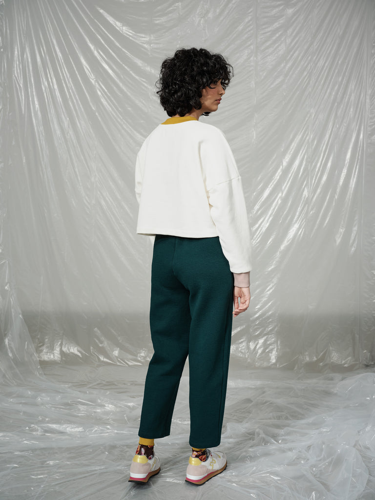 JACOPO emerald pant - L with holes around the pocket