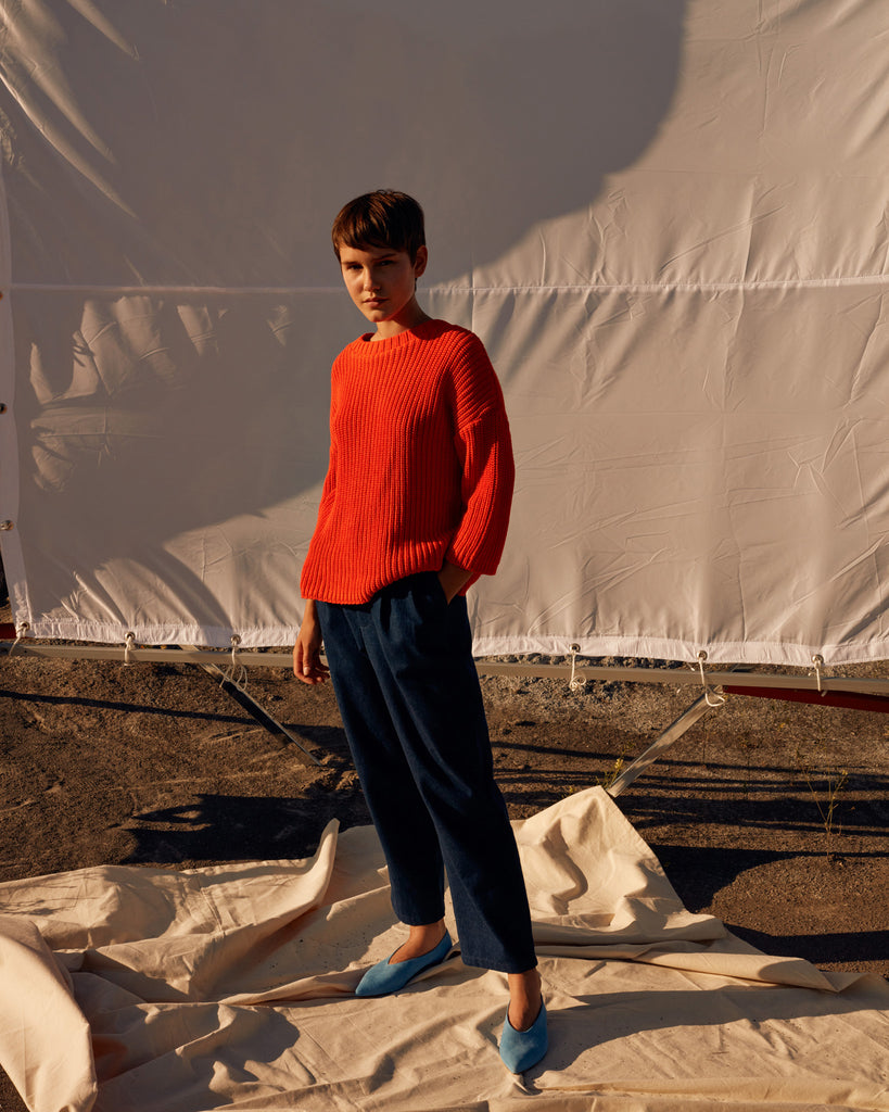 PARVIS orange sweater