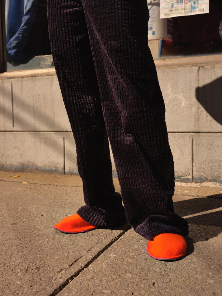 PERKO orange slippers