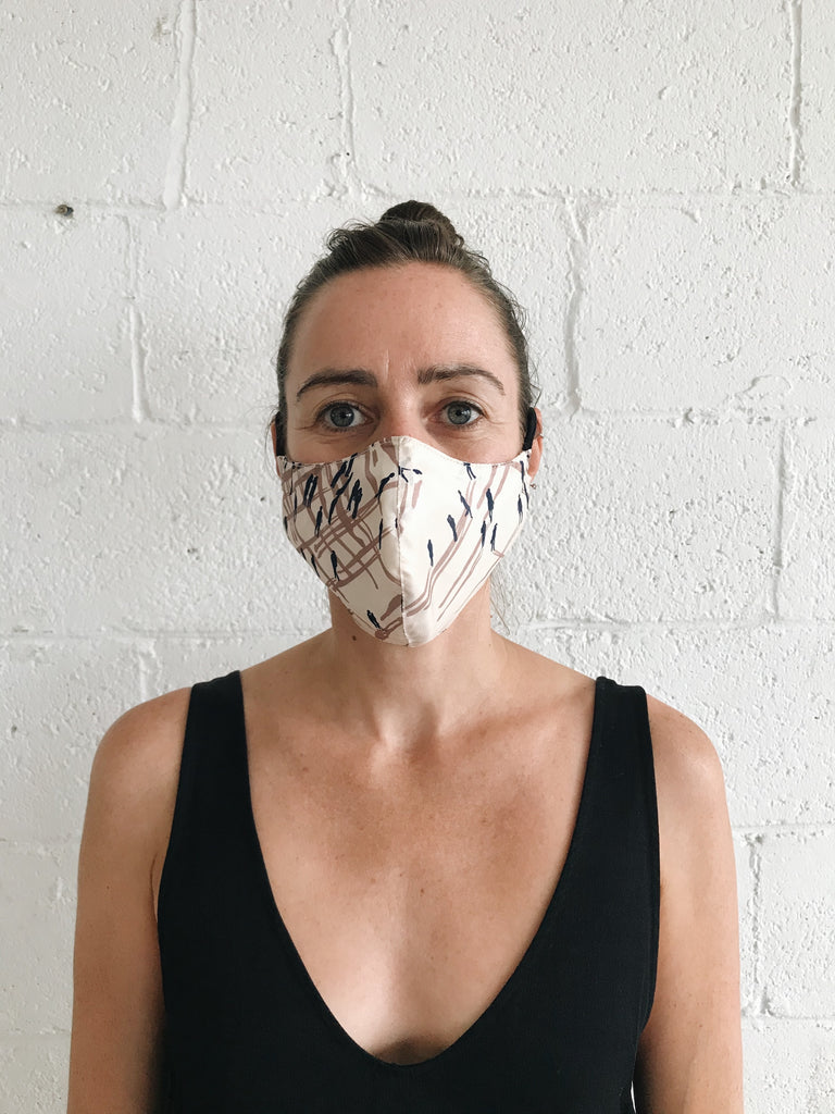 FACE MASK in silk pattern