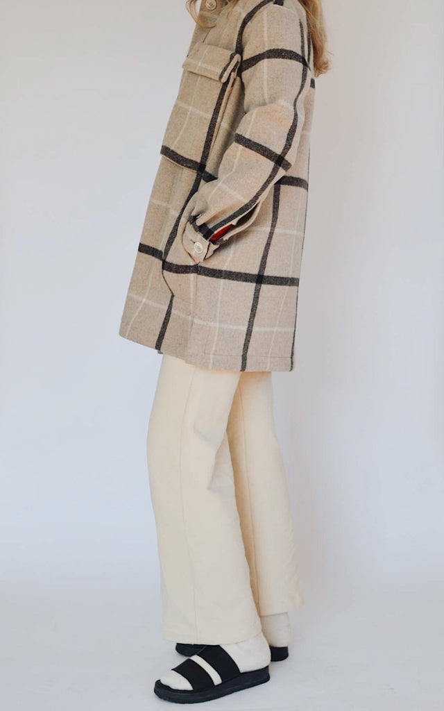 DENISE plaid oversized jacket