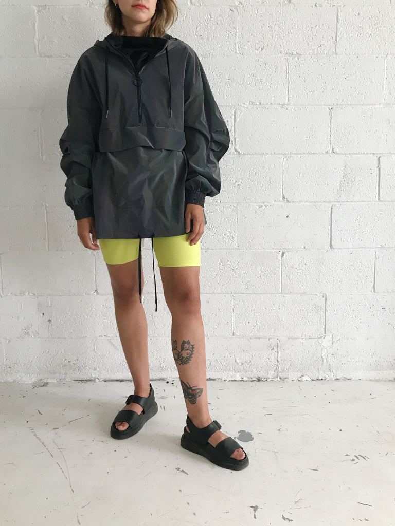 TUCK yellow biker short