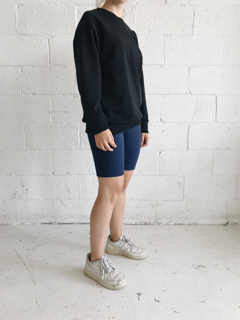 TUCK navy biker short