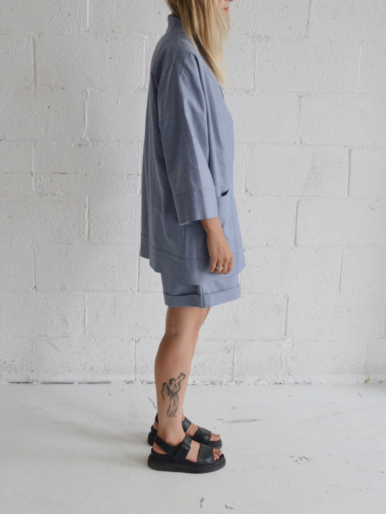 BLOOM denim kimono inspired overpiece