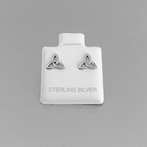 Sterling Silver Small Triquetra Earrings, Celtic Earrings, Silver Earrings, Stud Earrings