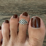Sterling Silver Celtic Toe Ring, Silver Ring, Celtic Ring, Knot Ring