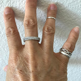 Sterling Silver Eternity CZ Band