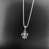 Sterling Silver Filigree Fleur De Lis Necklace, Silver Necklace, Saints Necklace, Boho Necklace