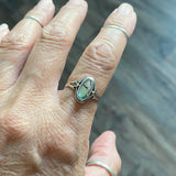Sterling Silver Oval Abalone Ring, Silver Ring, Stone Ring, Boho Ring