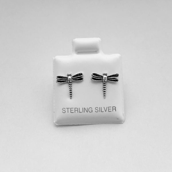 Sterling Silver Dragonfly Earrings, Silver Earrings, Stud Earrings, Spirit Earrings