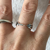 Sterling Silver Feather Ring,  Boho Ring, Silver Ring, Angels Wing