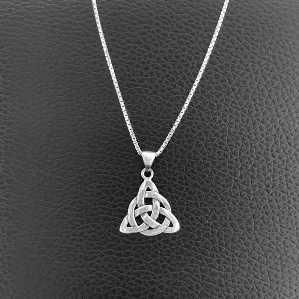 Sterling Silver Celtic Necklace, Silver Necklace, Knot Necklace