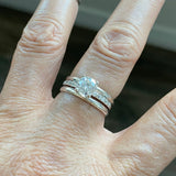 Sterling Silver CZ Wedding Ring, Engagement Ring, Silver Ring, CZ Ring