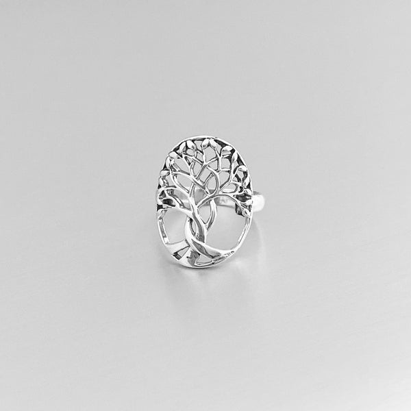 Sterling Silver Large Tree of Life Ring, Silver Ring, Tree Ring, Fortune Ring