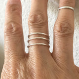 Sterling Silver Cuff 3 Band Ring, Silver Ring, Rings
