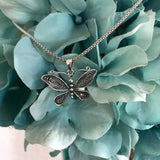 Sterling Silver Butterfly Necklace, Boho Necklace, Silver Necklace