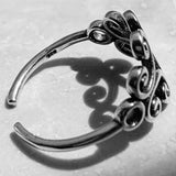 Sterling Silver Swirly Toe Ring, Silver Rings, Swirl Ring