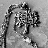 Sterling Silver Tree Of Life Necklace, Silver Necklace, Fortune Necklace