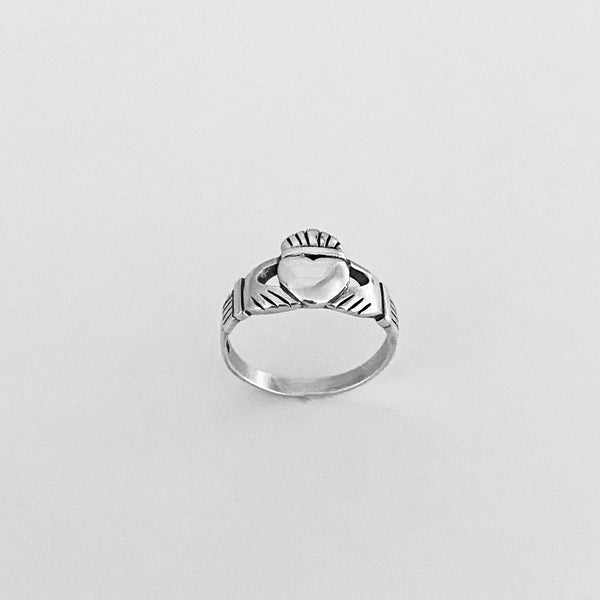 Sterling Silver Large Claddagh Ring, Friendship Ring, Heart Ring, Irish Ring, Silver Ring