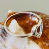 Sterling Silver Heart with Love Ring, Silver Ring, Heart Ring